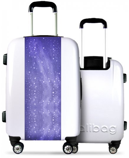 White Suitcase Galaxy