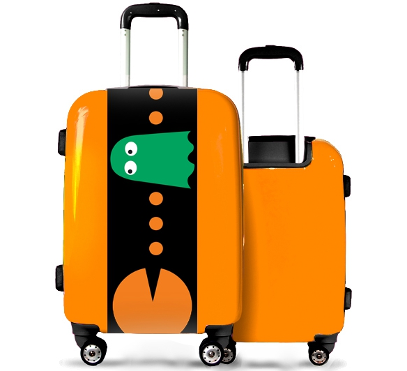 Valise orange Pac Man