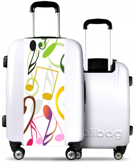 Suitcase Colorful Music
