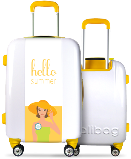 Valise Hello Summer Yellow