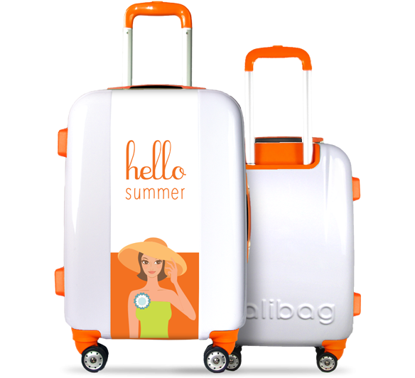 Valise Hello Summer Orange