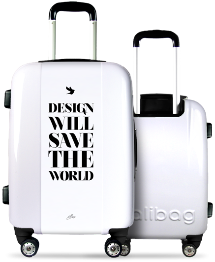"""Design Will Save The World"" Suitcase"