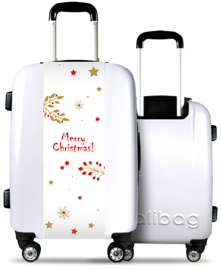White Suitcase Merry Christmas