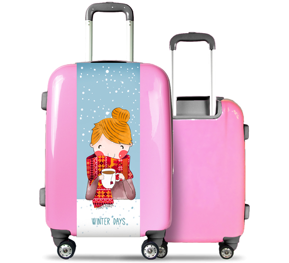 Valise Rose Jours d'Hiver