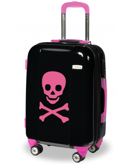 Suitcase Pink Skull