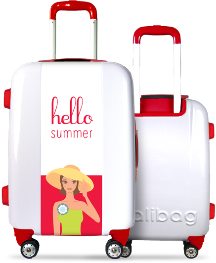 Valise Hello Summer Blue