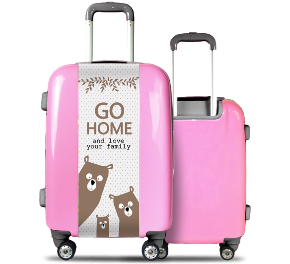 Pink Suitcase Family Bear