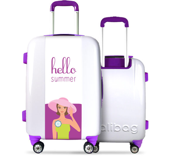 Valise Hello Summer Purple