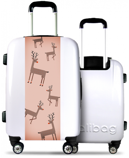White Suitcase Christmas Reindeer