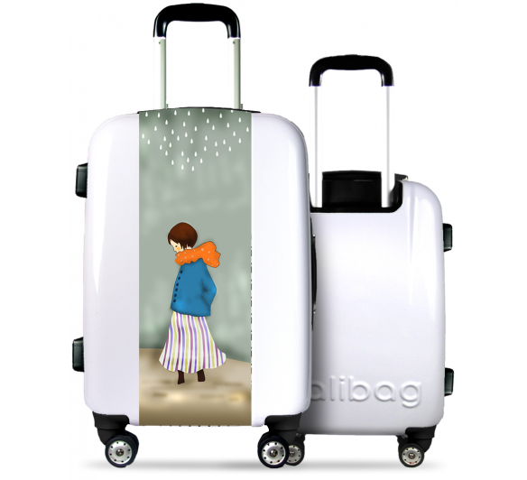 White Suitcase Angelic Girl