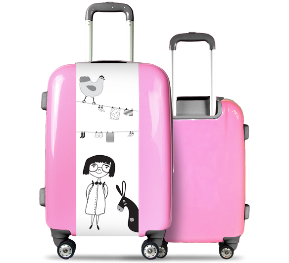 Valise Rose Fille et Animaux