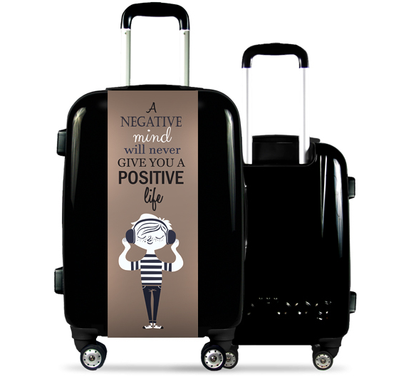 Black Suitcase Positive Life