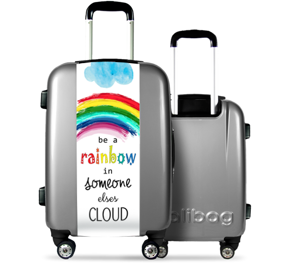 Grey Suitcase Rainbow