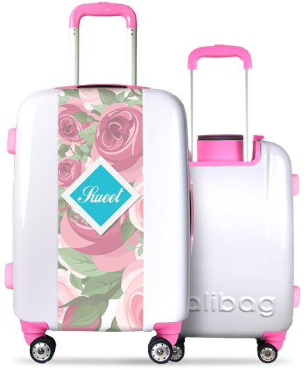Valise blanche Sweet Flowers