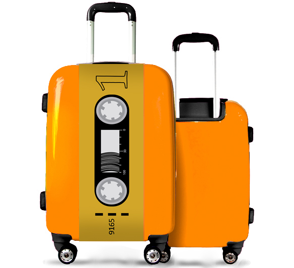 Suitcase Yellow Tape