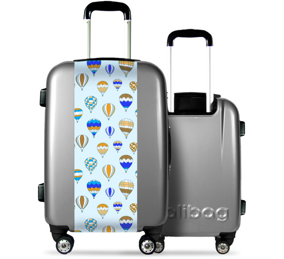 Grey Suitcase Hot Air Balloon