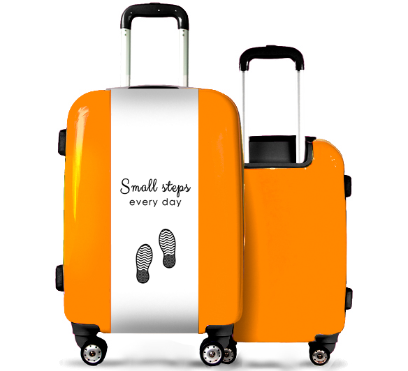 Orange Suitcase Small Steps