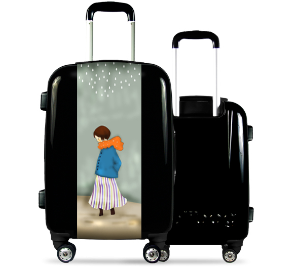 Black Suitcase Angelic Girl