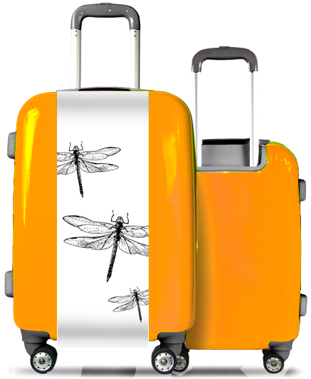 Valise Orange Libellules
