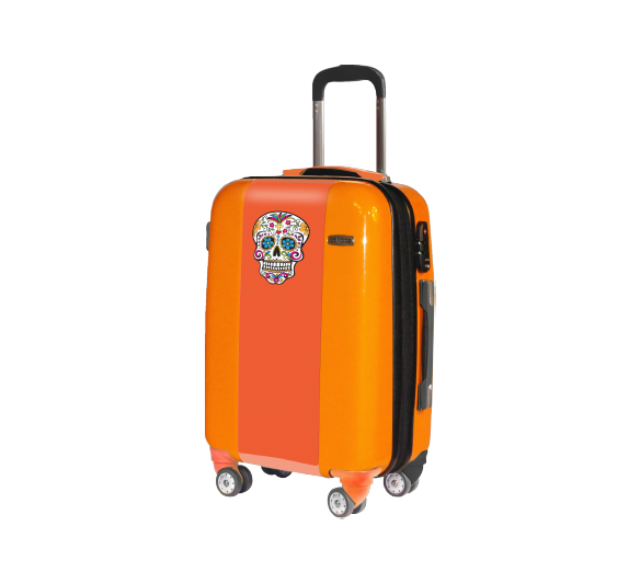 Orange Suitcase Hippy Bones