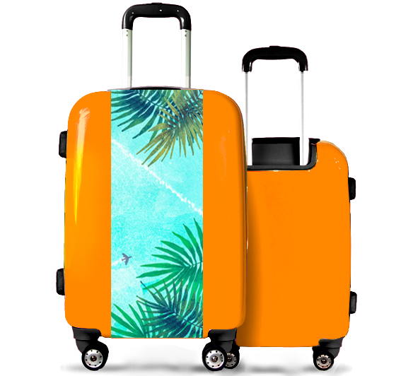 Orange Suitcase Palm Trees