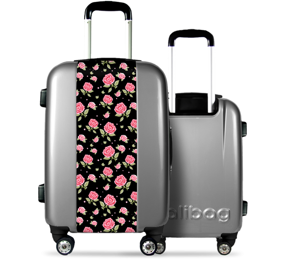 """Dark Rose"" Suitcase"