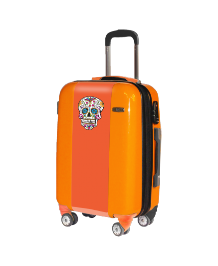 Valise orange Hippy Bones