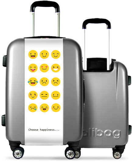 Valise Grise Smileys