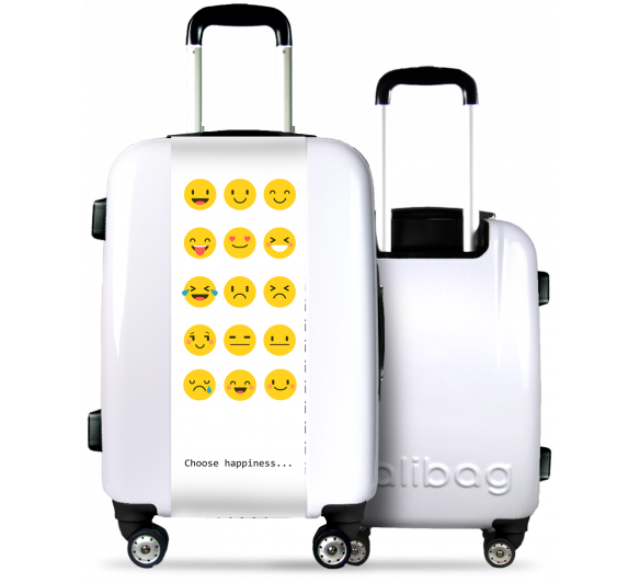 White Suitcase Smileys