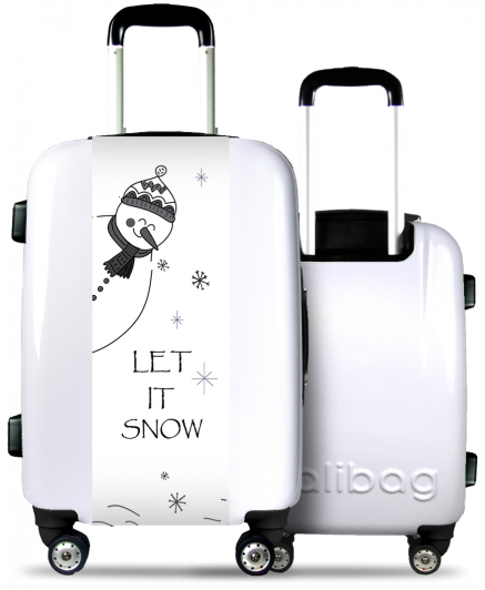 Valise Blanche Let It Snow