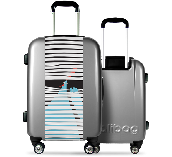 Grey Suitcase Hidden hen