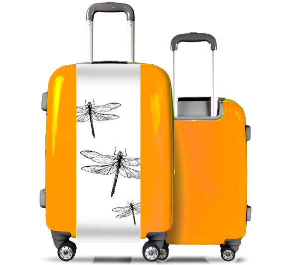 Orange Suitcase Dragonflies