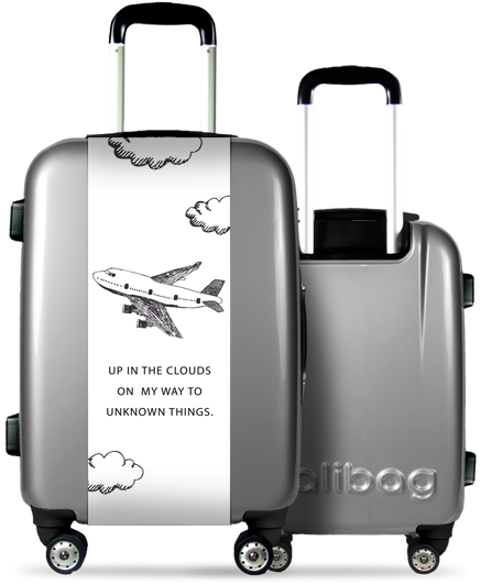 Grey Suitcase Airplane
