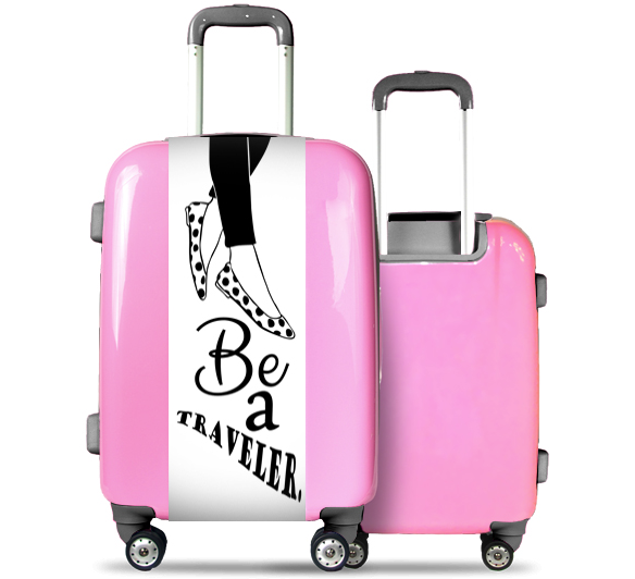 Pink Suitcase Be a Traveler