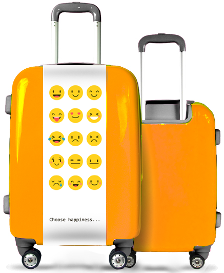 Valise Orange Smileys