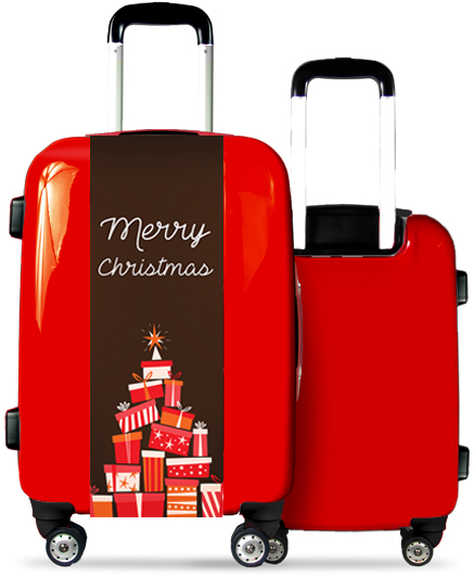 Red Suitcase Christmas Presents