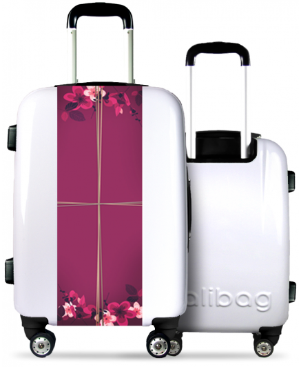 White Suitcase Flowers Gift