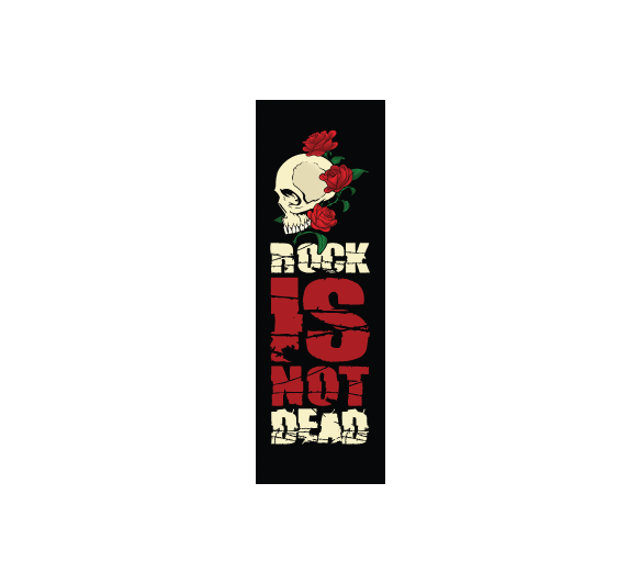 Rock is not dead Rouge Noir