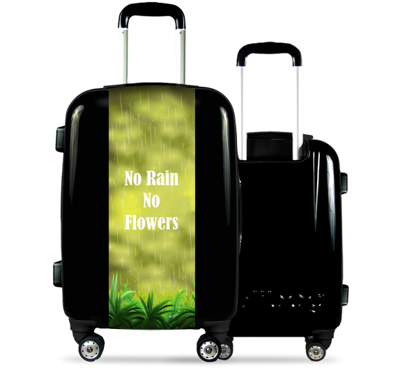 Black Suitcase Green Nature